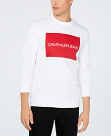 Calvin Klein Jeans Men's Institutional Logo Long-Sleeve Sweatshirt