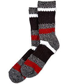HUE® Super-Soft Ribbed Stripe Boot Socks