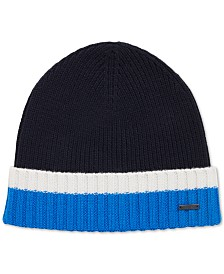 BOSS Men's Virgin Wool Beanie Hat