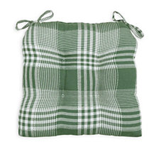 Exeter Check Set of Two Chair Pad Seat Cushions