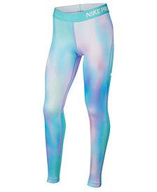 Nike Big Girls Pro Warm Printed Leggings