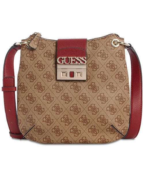 GUESS Logo Luxe Tourist Crossbody - Handbags   Accessories - Macy s cd1b13427d