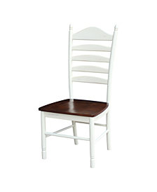Tall Ladderback Chair - Hand Rubbed Finish, Set of 2
