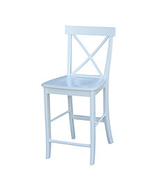 "X-Back Counterheight Stool - 24"" Seat Height"