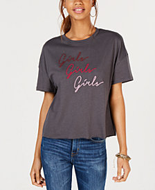 Carbon Copy Embroidered Girls Girls Girls T-Shirt