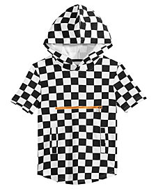 Jaywalker Big Boys Zip-Pocket Check-Print Hoodie
