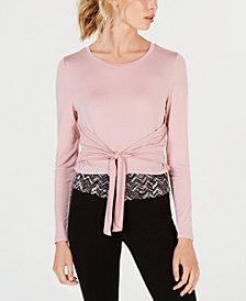 Material Girl Juniors' Tie-Front Crop Top, Created for Macy's