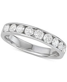 Diamond Channel-Set Wedding Band (1 ct. t.w.) in 14k White Gold