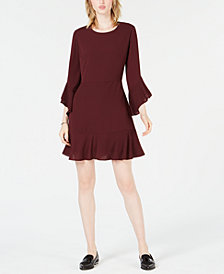 Bar III Ruffle-Hem Fit & Flare Dress, Created for Macy's