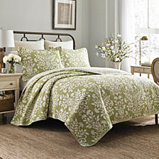 Laura Ashley Twin Rowland Quilt Set