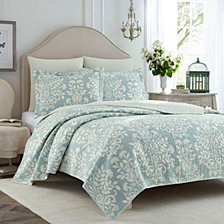 Laura Ashley King Rowland Quilt Set