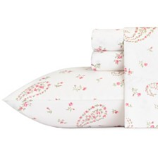 Laura Ashley Queen Bristol Paisley Pink Sheet Set