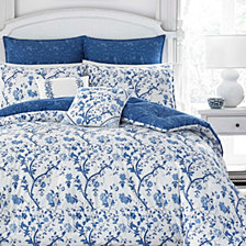Laura Ashley Full/Queen Elise Navy Comforter Set