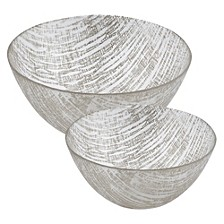 Silver Lines Bowls - Set of 2