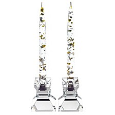 Silver and Gold Acrylic Sculptures - Set of 12