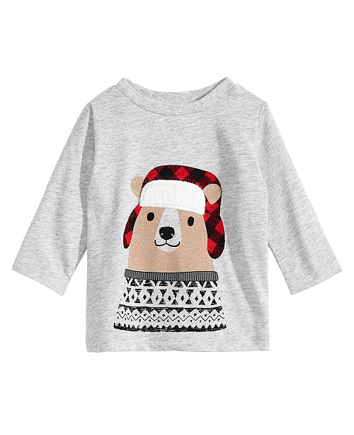 717d4711c First Impressions Toddler Boys Hunting Bear Graphic T-Shirt, Created for  Macy's