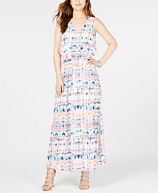 Karen Kane Printed Sleeveless Maxi Dress