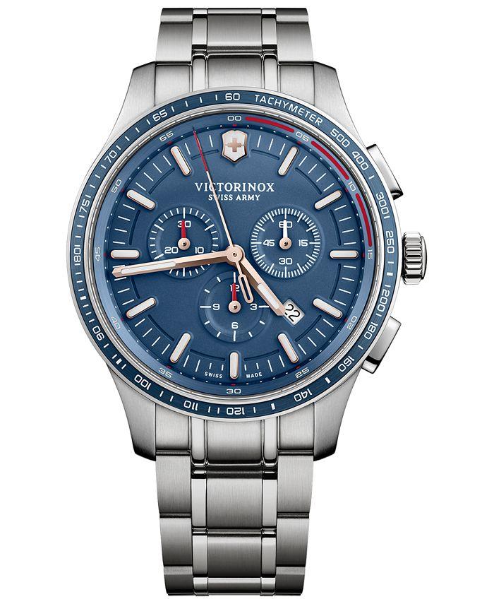 Victorinox Swiss Army - Men's Swiss Chronograph Alliance Stainless Steel Bracelet Watch 44mm