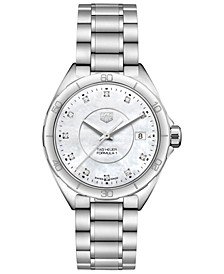 Women's Swiss Formula 1 Diamond-Accent Stainless Steel Bracelet Watch 35mm