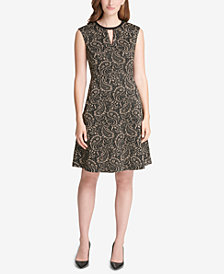 Tommy Hilfiger Paisley-Print A-Line Dress, Created for Macy's