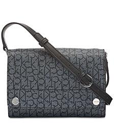 Calvin Klein Susan Saffiano Leather Signature Crossbody