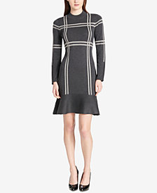 Tommy Hilfiger Flounce-Hem Sweater Dress