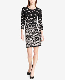 Tommy Hilfiger Floral Sweater Dress