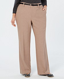 Plus Size Tummy Control Trouser Pants, Created for Macy's