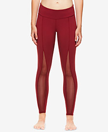 Gaiam by Jessica Biel Madison Mesh-Detail High-Rise Ankle Leggings