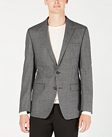 Calvin Klein Men's X Fit Slim-Fit Gray/Black Houndstooth Wool Sport Coat