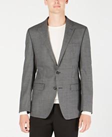 Calvin Klein Men's X Fit Slim-Fit Gray/Black Houndstooth Wool Sport Coat