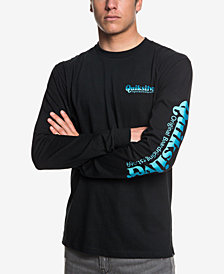 Quiksilver Men's Twin Fin Blend Logo Graphic T-Shirt