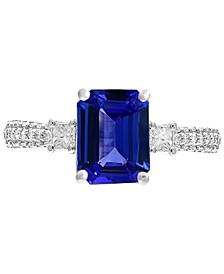 Gemstone Bridal by EFFY® Tanzanite (2-1/10 ct. t.w.) & Diamond (3/8 ct. t.w.) Ring in  18k white Gold