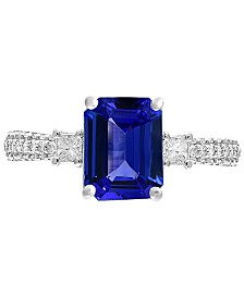 Gemstone Bridal by EFFY® Tanzanite (2-1/10 ct. t.w.) & Diamond (3/8 ct. t.w.) Ring in  18k white Gold