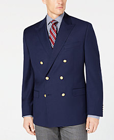 Lauren Ralph Lauren Men's Classic/Regular Fit Ultratech 10-Pocket Bright Navy Double Breasted Blazer
