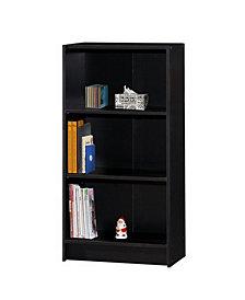 3-Shelf Bookcase in Black