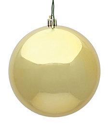 "4"" Gold Shiny Ball Christmas Ornament, 6 per Bag"