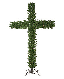 Vickerman 7.5' Artificial Christmas Cross with 250 LED Warm White Dura-Lit Lights