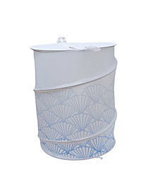 Polyester Collapsible Hamper with a Blue Shell Design