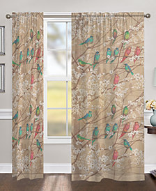 """Birds and Blossoms 84"""" Sheer Window Panel"""