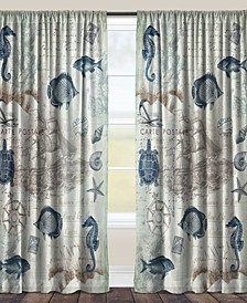 "Seaside Sheer 84"" Window Curtain"