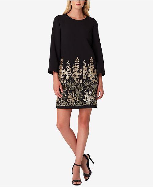 990a45936027 Tahari ASL Tahari Sequinned-Border Sheath Dress & Reviews - Dresses ...