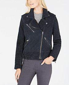 Lucky Brand Asymmetric Suede Moto Jacket