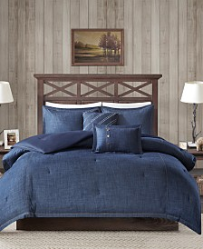 Woolrich Perry 5-Pc. Full Denim Comforter Set