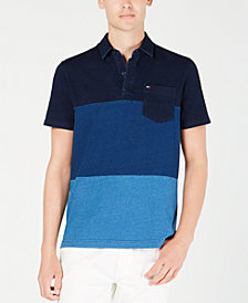 Tommy Hilfiger Men's Benson Custom-Fit Colorblocked Pocket Polo, Created for Macy's