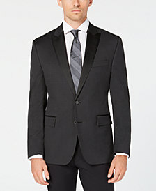 Ryan Seacrest Distinction™ Men's Modern-Fit Stretch Black Houndstooth Dinner Jacket, Created for Macy's
