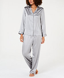 Charter Club Silk Pajama Set, Created for Macy's