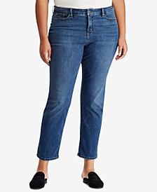 Lauren Ralph Lauren Plus Size Premier Straight Curvy Jeans