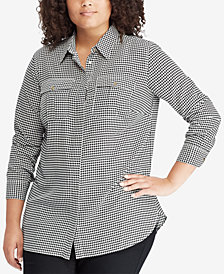 Lauren Ralph Lauren Plus Size Plaid Shirt