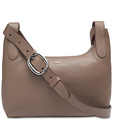 DKNY Wes Pebble Leather Crossbody, Created for Macy's